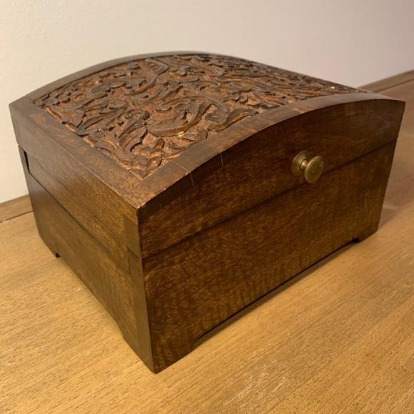 World Market Wooded Jewelry Box